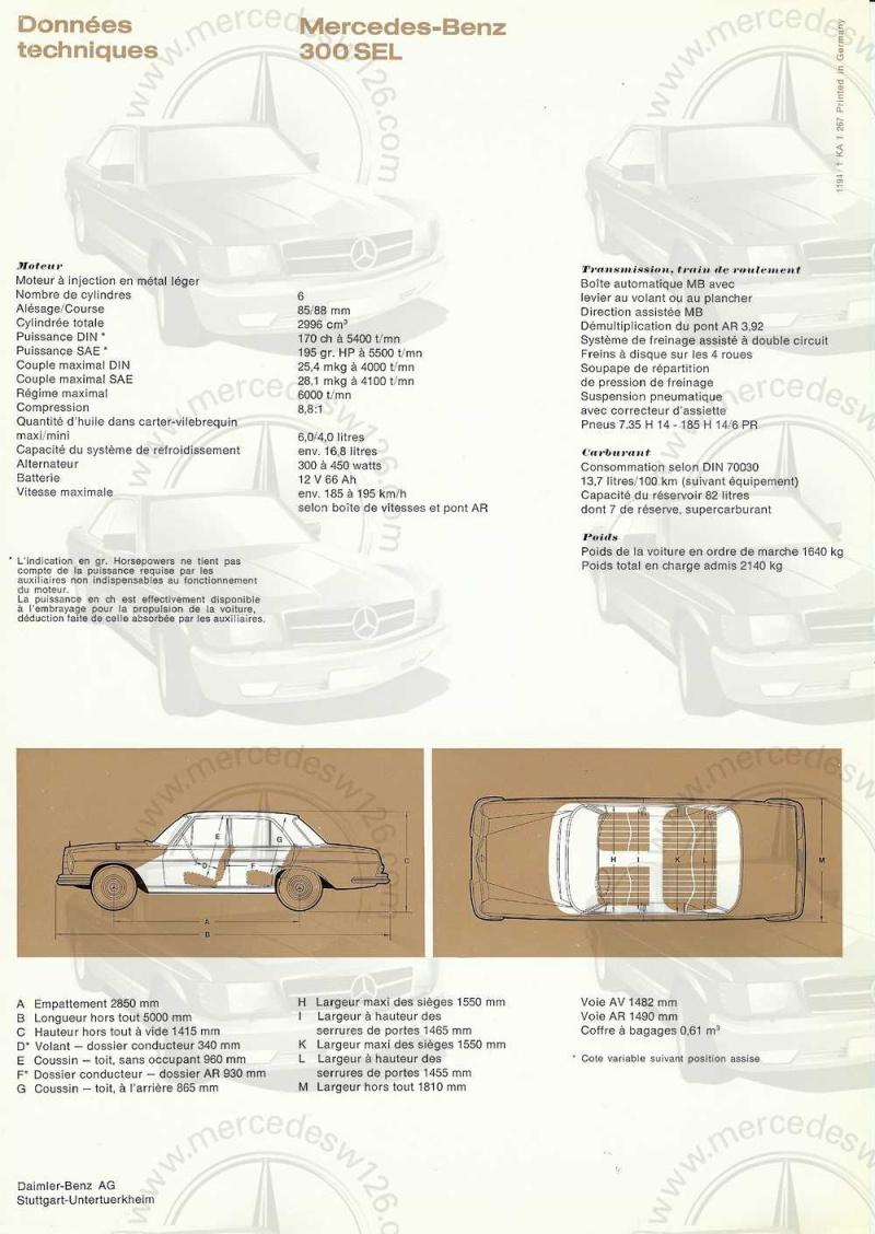 Catalogue de 1967 sur la Mercedes W109 300 SEL W109_329