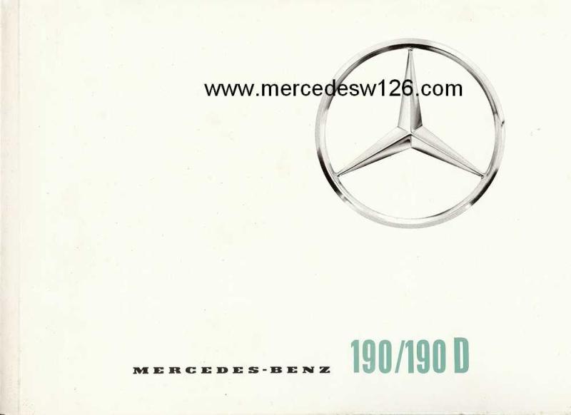 Catalogue de 1964 sur les Mercedes W110 190 & 190 D W110_110