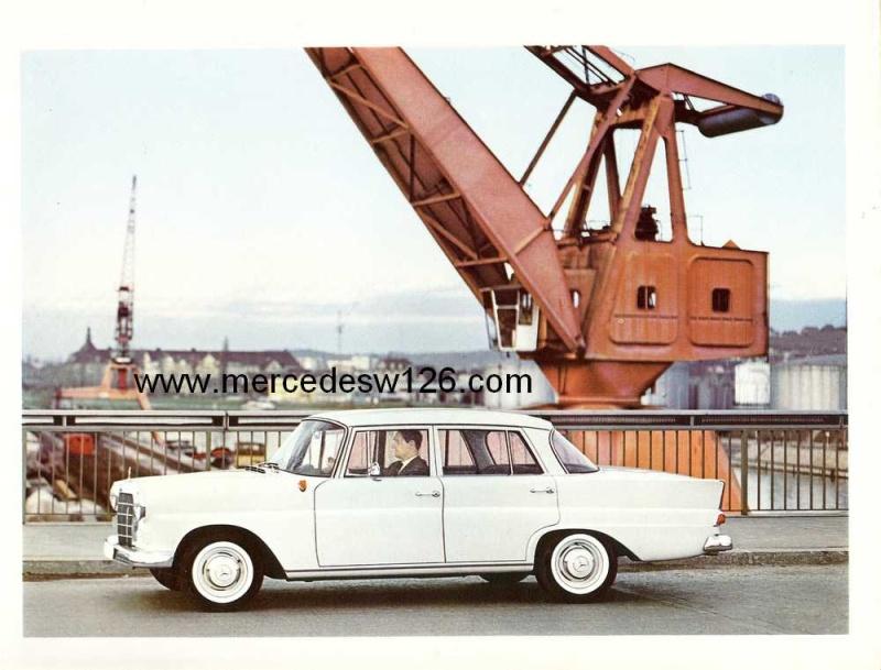Catalogue de 1964 sur les Mercedes W110 190 & 190 D W110_113
