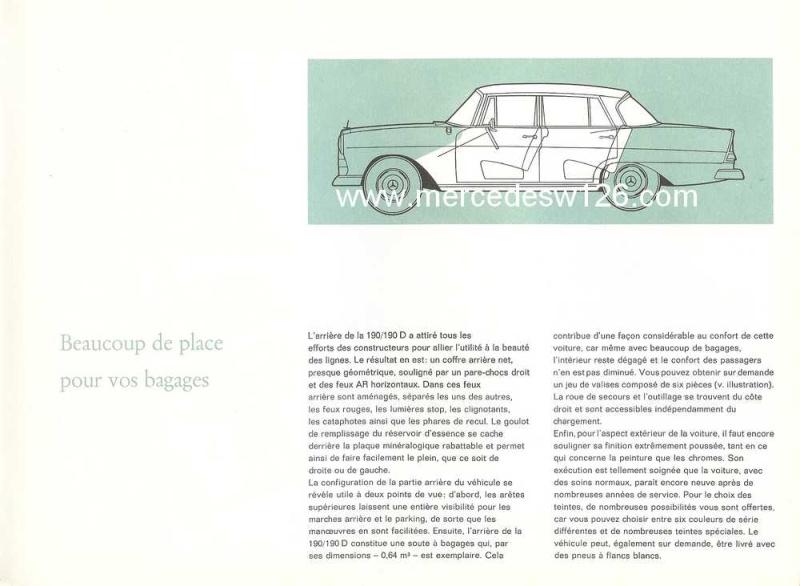 Catalogue de 1964 sur les Mercedes W110 190 & 190 D W110_115