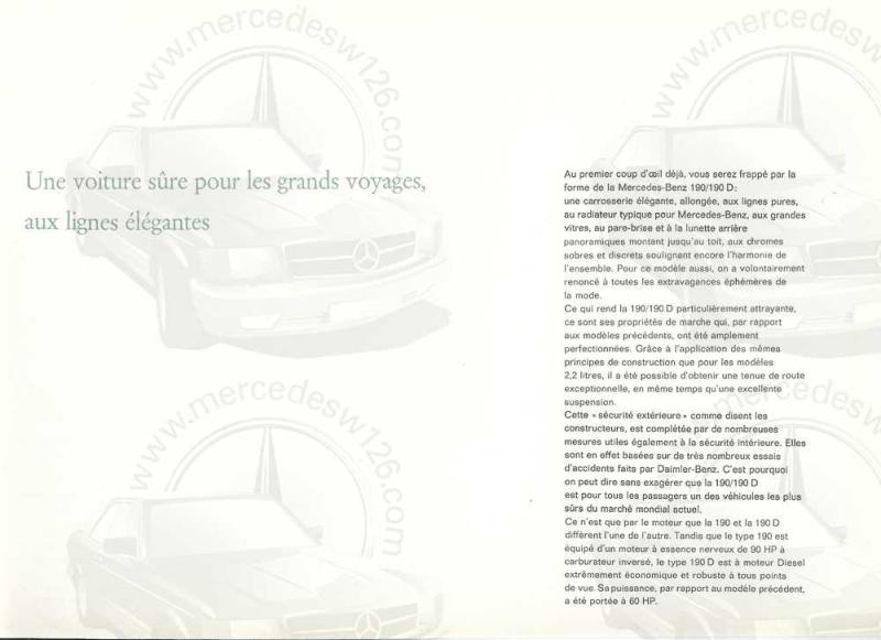 Catalogue de 1964 sur les Mercedes W110 190 & 190 D W110_117