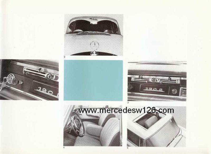 Catalogue de 1964 sur les Mercedes W110 190 & 190 D W110_119