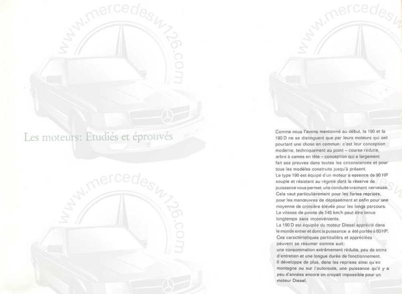 Catalogue de 1964 sur les Mercedes W110 190 & 190 D W110_120