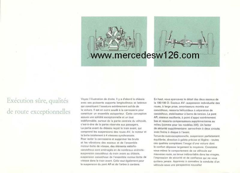 Catalogue de 1964 sur les Mercedes W110 190 & 190 D W110_124