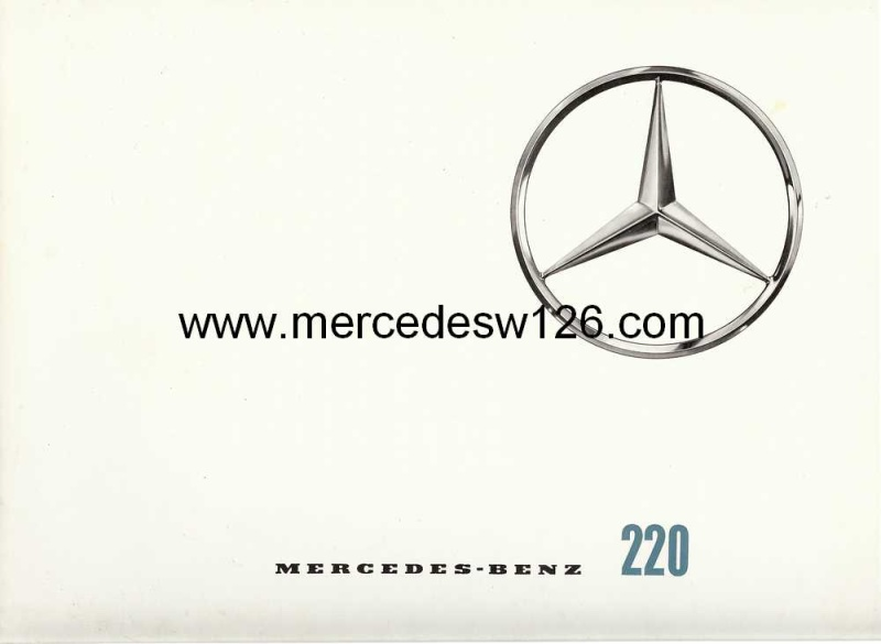 Catalogue de1964 sur la Mercedes W110 220 W110_210