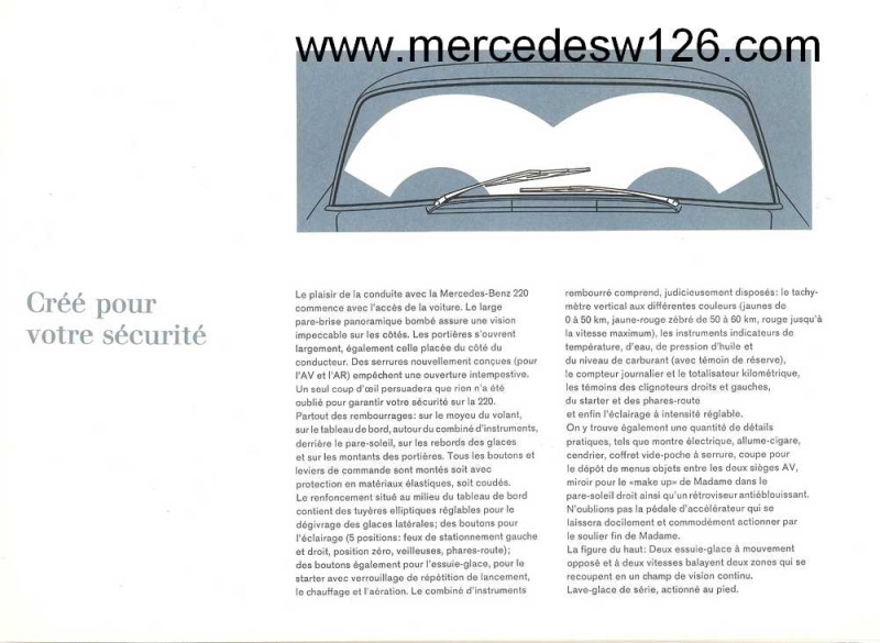 Catalogue de1964 sur la Mercedes W110 220 W110_219