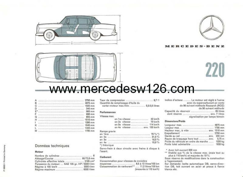 Catalogue de1964 sur la Mercedes W110 220 W110_228