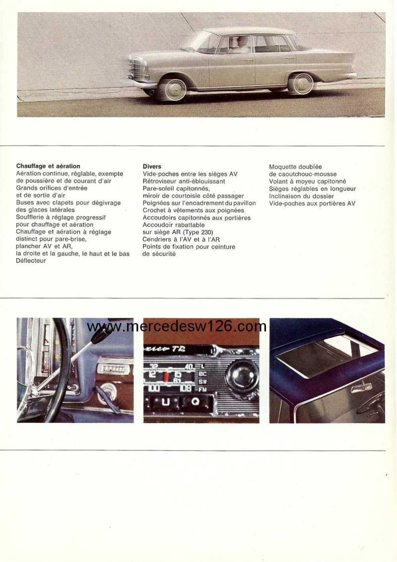 Catalogue de 1965 sur les Mercedes W110 200 & 230 W110_230