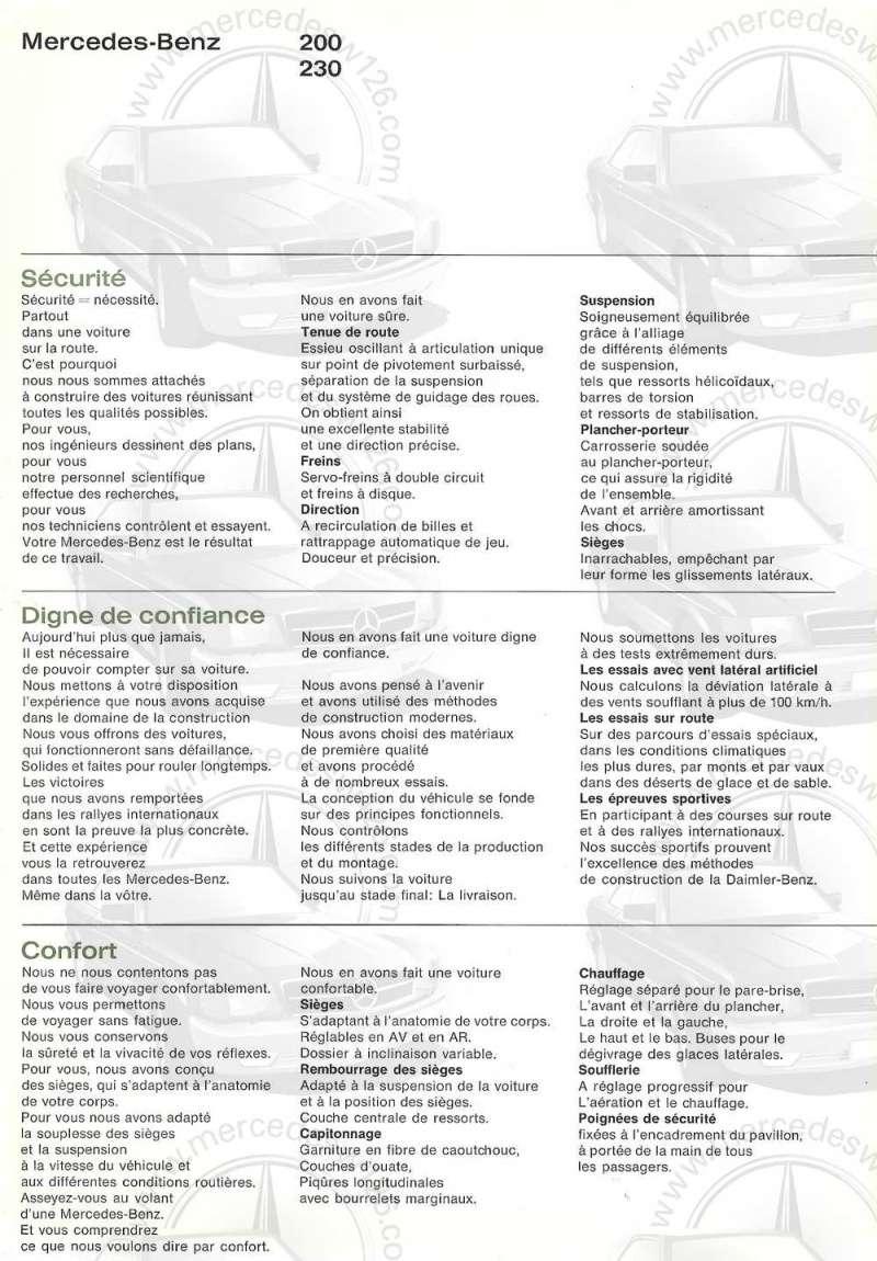 Catalogue de 1965 sur les Mercedes W110 200 & 230 W110_234