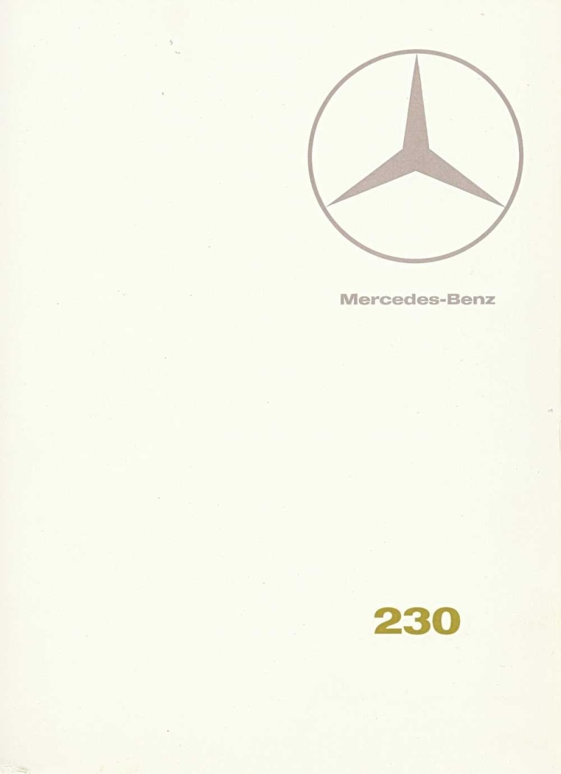 Catalogue de 1967 sur la Mercedes W110  230 W110_236