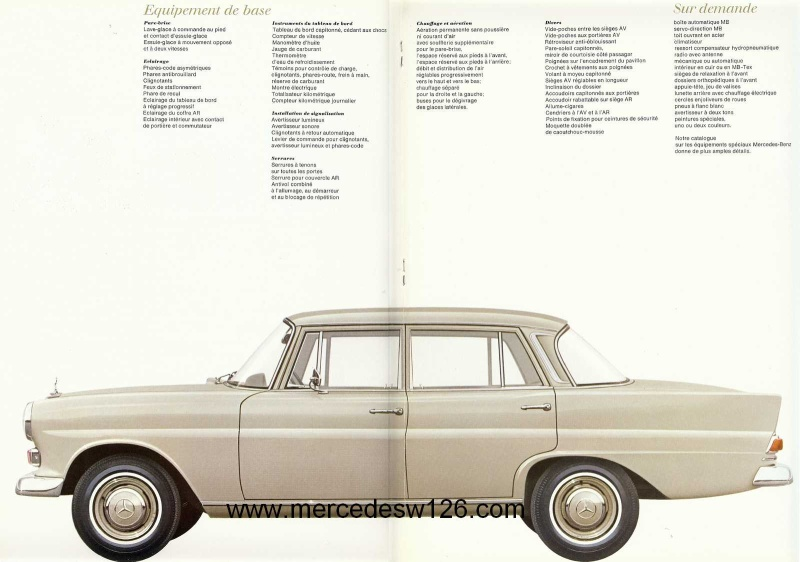 Catalogue de 1967 sur la Mercedes W110  230 W110_238
