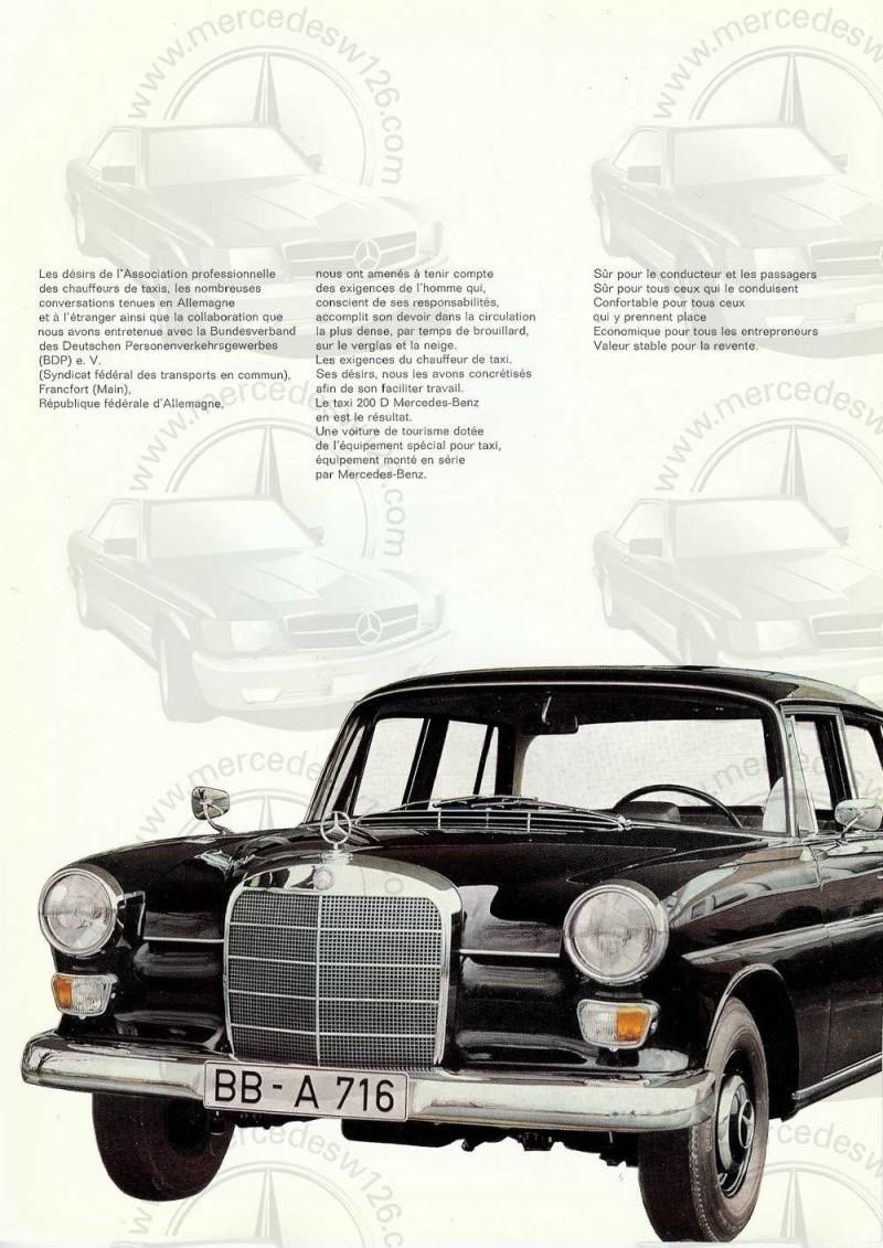 Catalogue de 1965 sur la Mercedes W110 200 D Taxi W110_t11