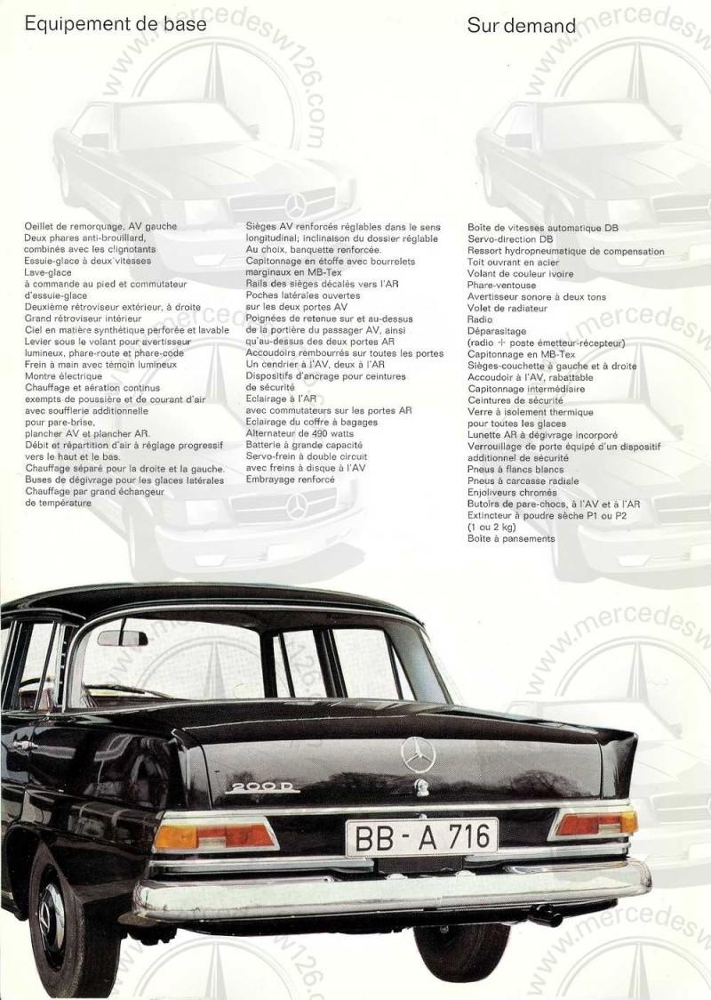 Catalogue de 1965 sur la Mercedes W110 200 D Taxi W110_t13