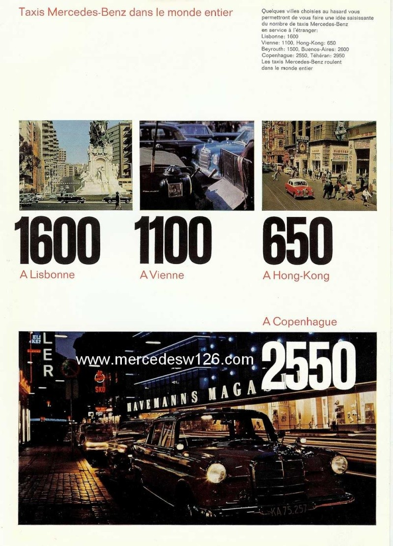 Catalogue de 1965 sur la Mercedes W110 200 D Taxi W110_t16