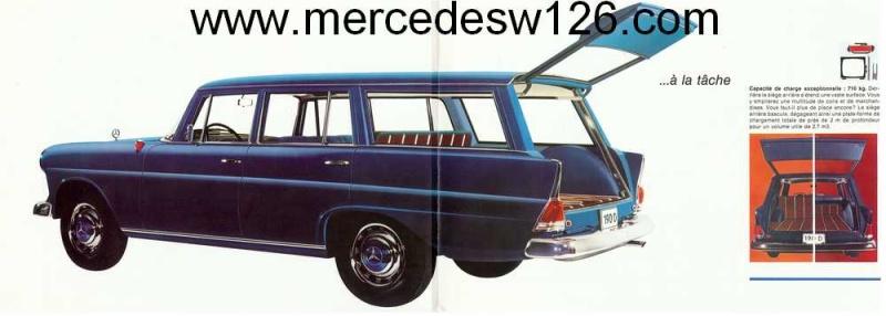 "Catalogue de 1965 sur la Mercedes W110 break ""Universal"" W110_u10"