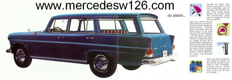"Catalogue de 1965 sur la Mercedes W110 break ""Universal"" W110_u11"