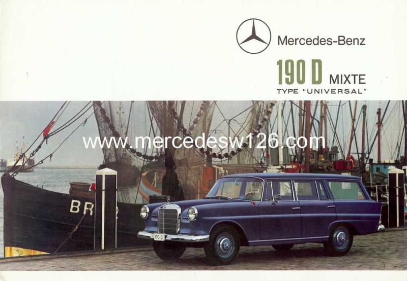 "Catalogue de 1965 sur la Mercedes W110 break ""Universal"" W110_u12"