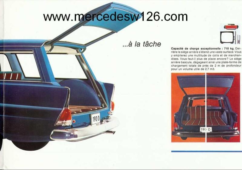 "Catalogue de 1965 sur la Mercedes W110 break ""Universal"" W110_u13"