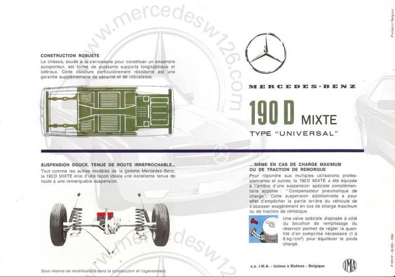 "Catalogue de 1965 sur la Mercedes W110 break ""Universal"" W110_u14"