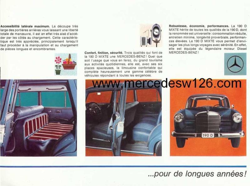 "Catalogue de 1965 sur la Mercedes W110 break ""Universal"" W110_u15"