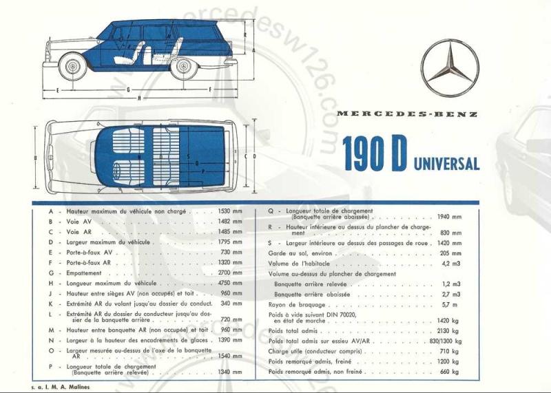 "Catalogue de 1965 sur la Mercedes W110 break ""Universal"" W110_u16"