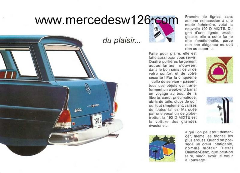 "Catalogue de 1965 sur la Mercedes W110 break ""Universal"" W110_u18"