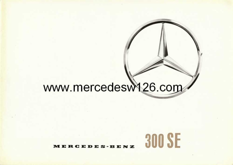Catalogue de 1961 sur la Mercedes W112 300 SE W112_110