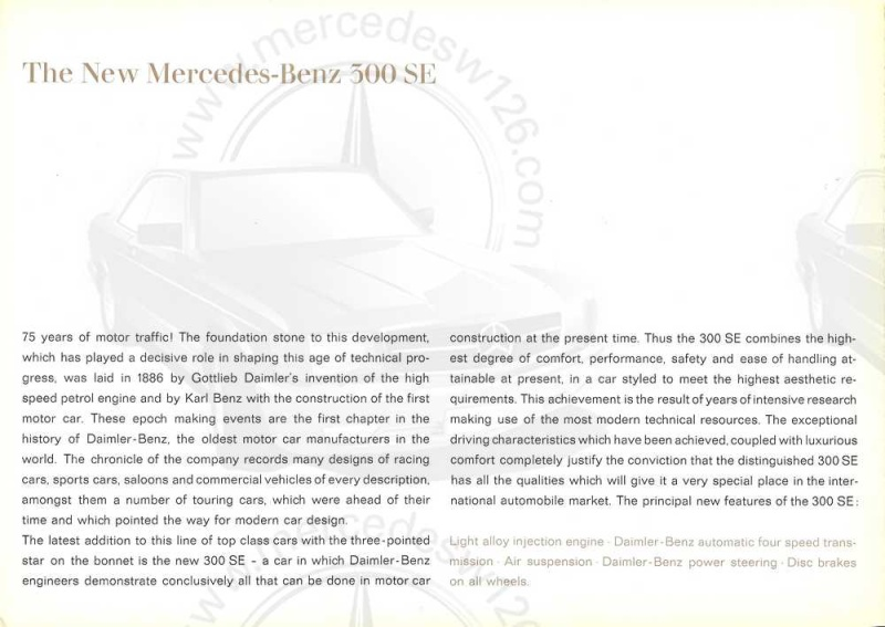 Catalogue de 1961 sur la Mercedes W112 300 SE W112_111