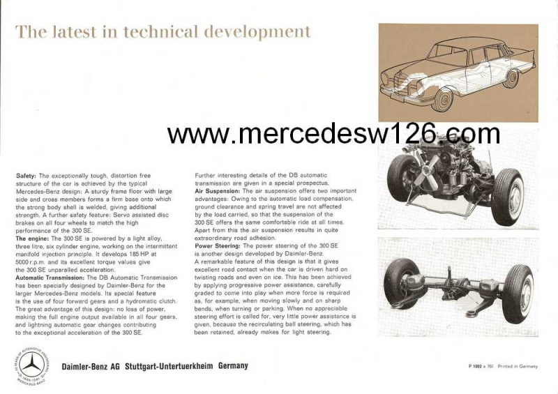 Catalogue de 1961 sur la Mercedes W112 300 SE W112_114