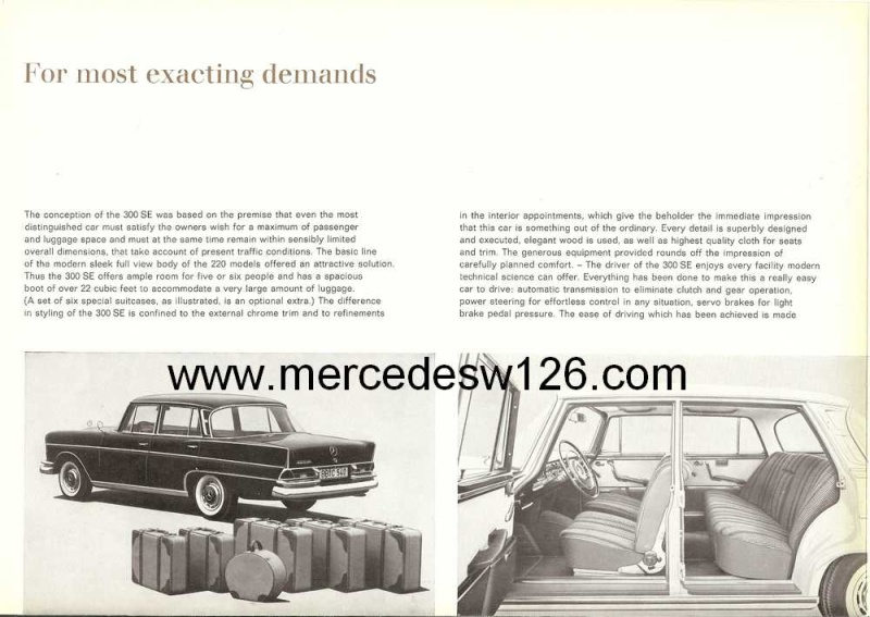 Catalogue de 1961 sur la Mercedes W112 300 SE W112_115