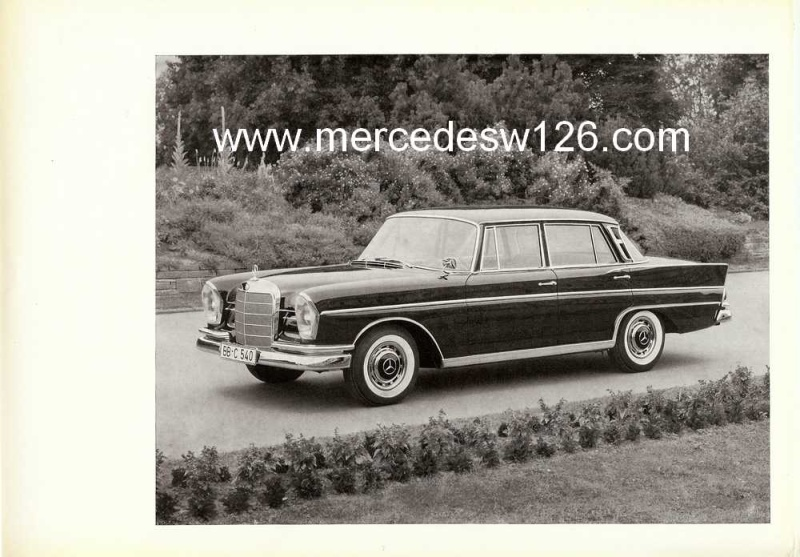 Catalogue de 1961 sur la Mercedes W112 300 SE W112_116