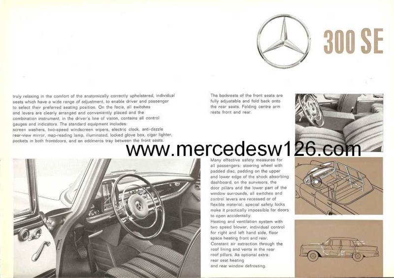 Catalogue de 1961 sur la Mercedes W112 300 SE W112_117