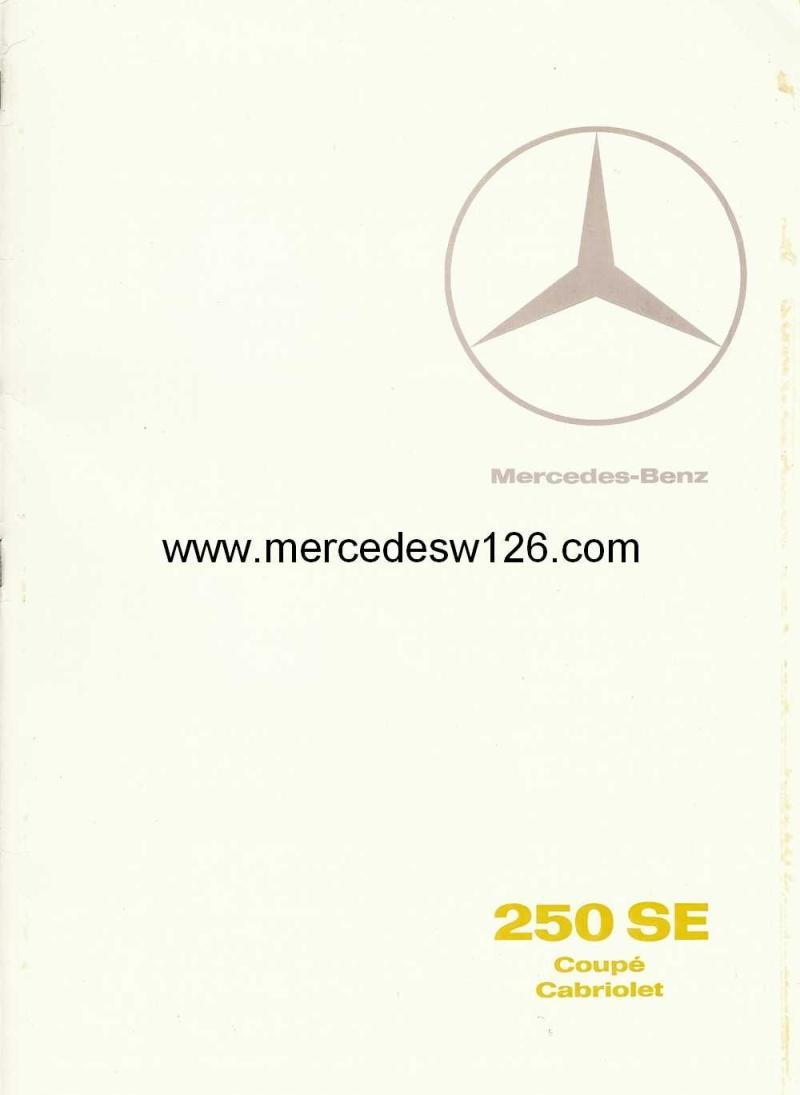 Catalogue de 1967 sur les Mercedes W111 250 SE coupé & cabriolet W112_210
