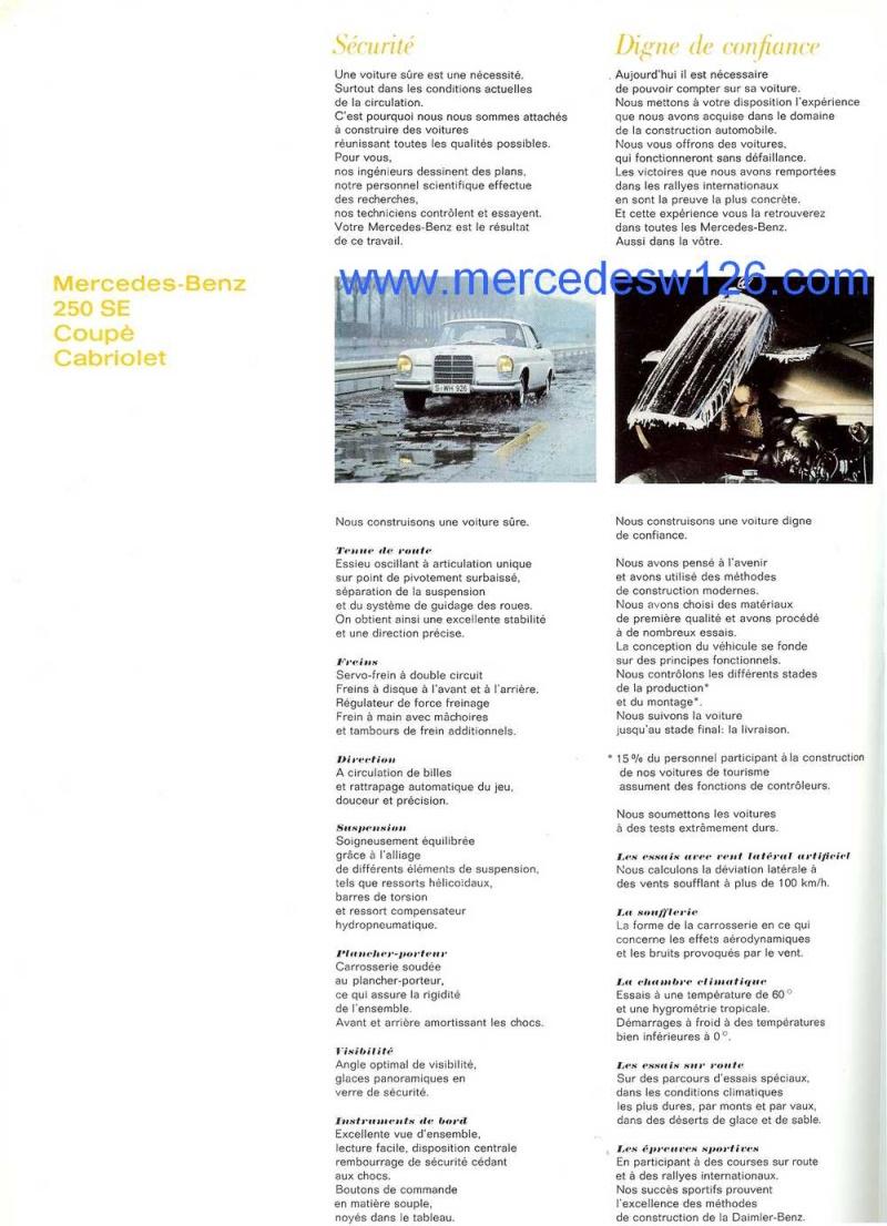 Catalogue de 1967 sur les Mercedes W111 250 SE coupé & cabriolet W112_211