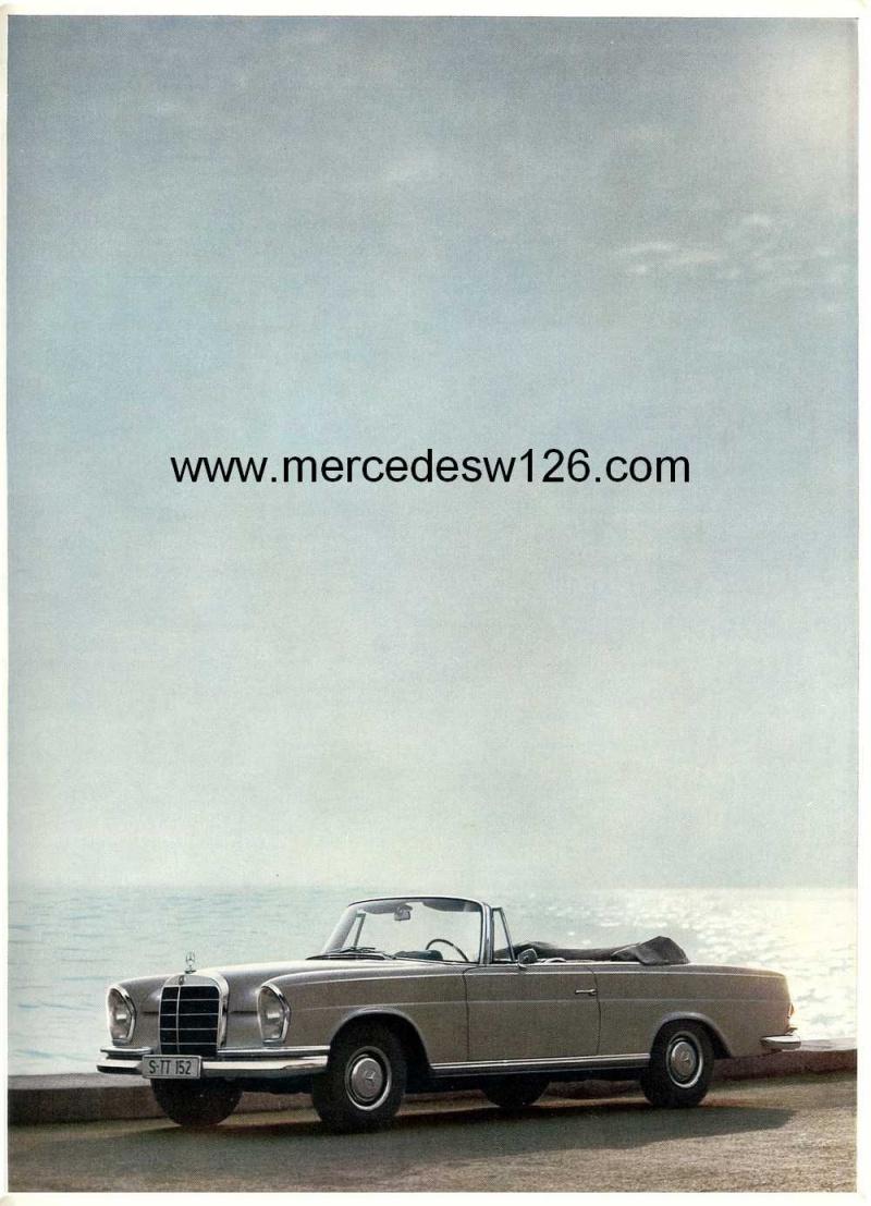 Catalogue de 1967 sur les Mercedes W111 250 SE coupé & cabriolet W112_212