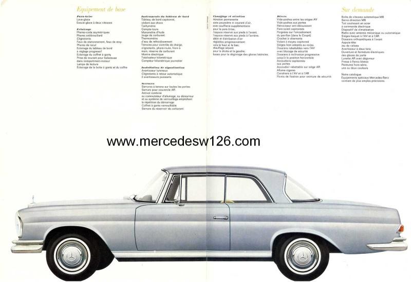 Catalogue de 1967 sur les Mercedes W111 250 SE coupé & cabriolet W112_215