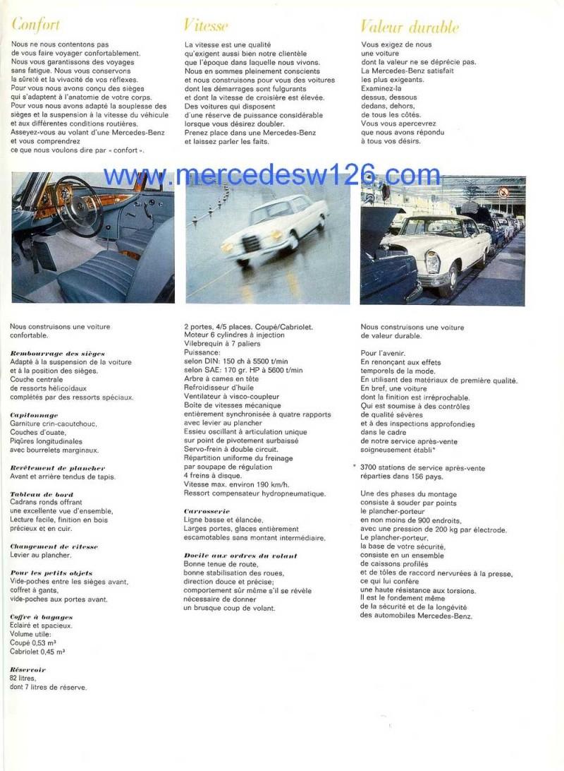 Catalogue de 1967 sur les Mercedes W111 250 SE coupé & cabriolet W112_216