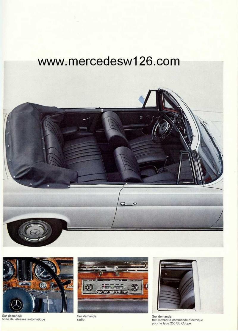 Catalogue de 1967 sur les Mercedes W111 250 SE coupé & cabriolet W112_220
