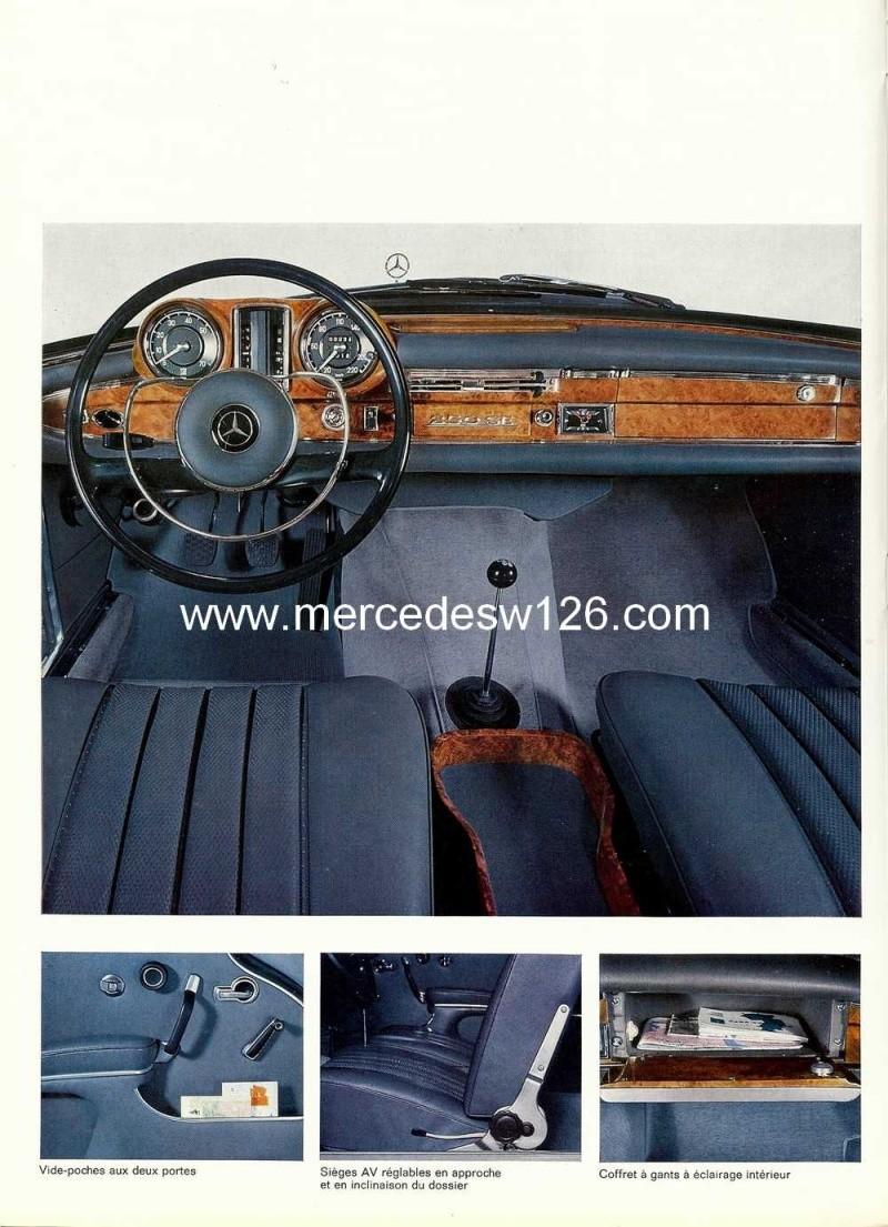 Catalogue de 1967 sur les Mercedes W111 250 SE coupé & cabriolet W112_221