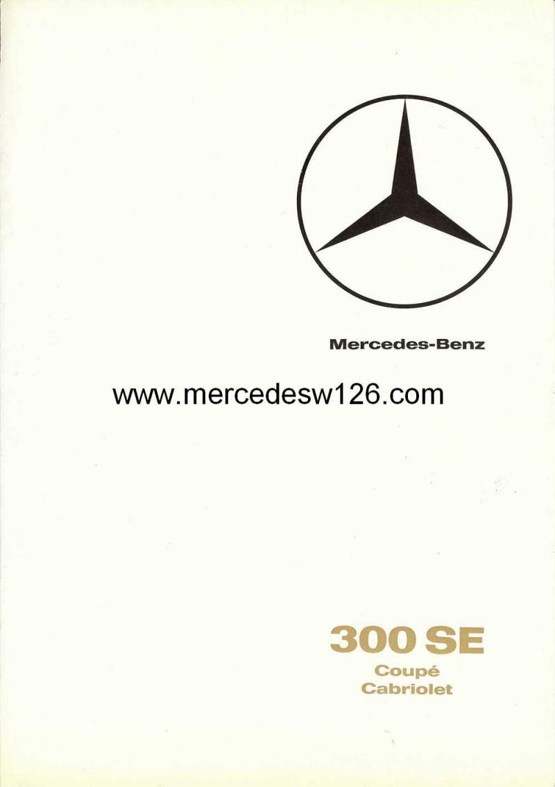 Catalogue de 1966 sur les Mercedes W112 300 SE coupé & cabriolet W112_c10