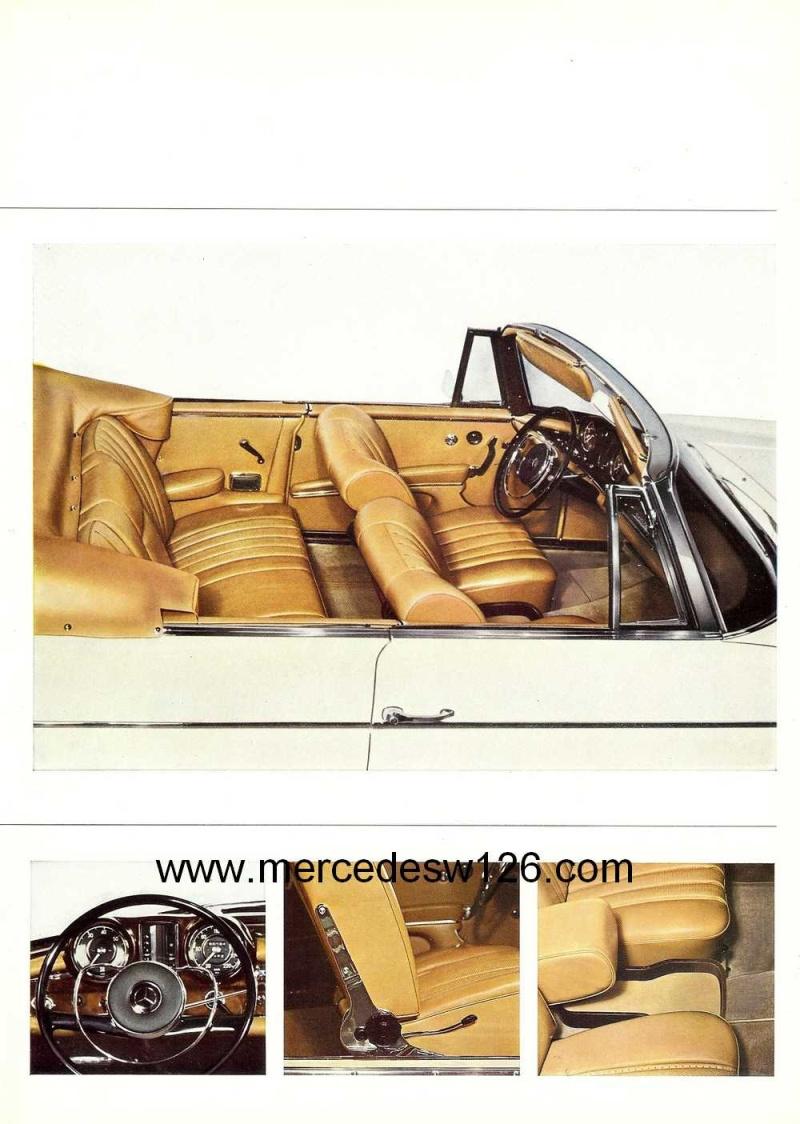 Catalogue de 1966 sur les Mercedes W112 300 SE coupé & cabriolet W112_c11