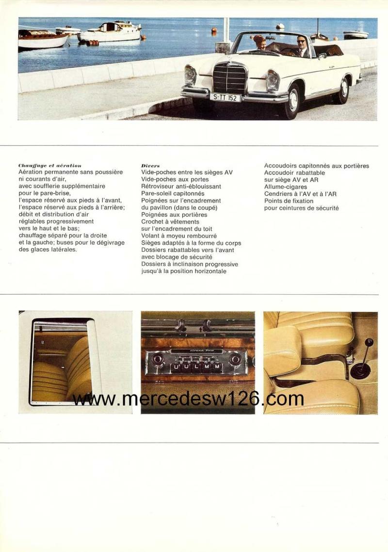 Catalogue de 1966 sur les Mercedes W112 300 SE coupé & cabriolet W112_c14