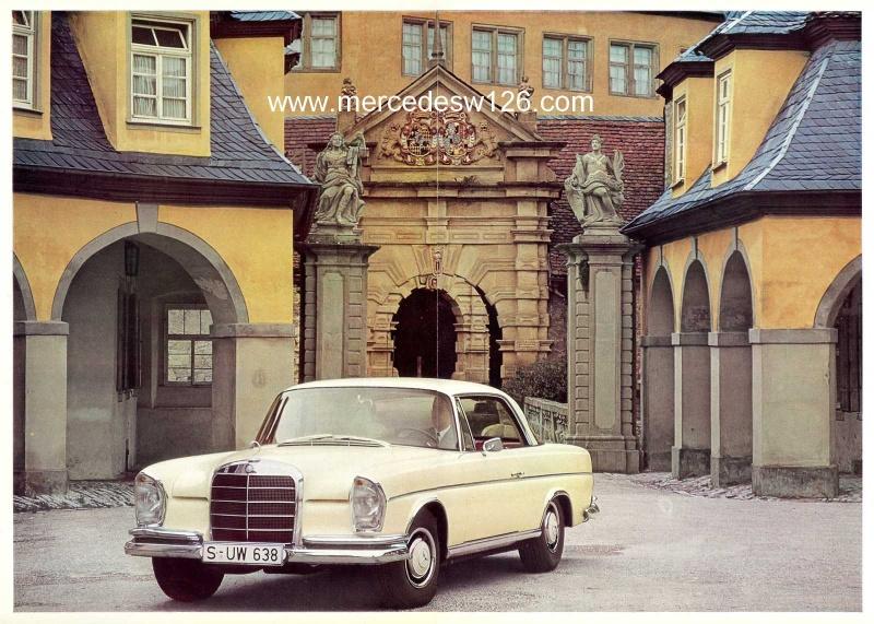 Catalogue de 1966 sur les Mercedes W112 300 SE coupé & cabriolet W112_c15