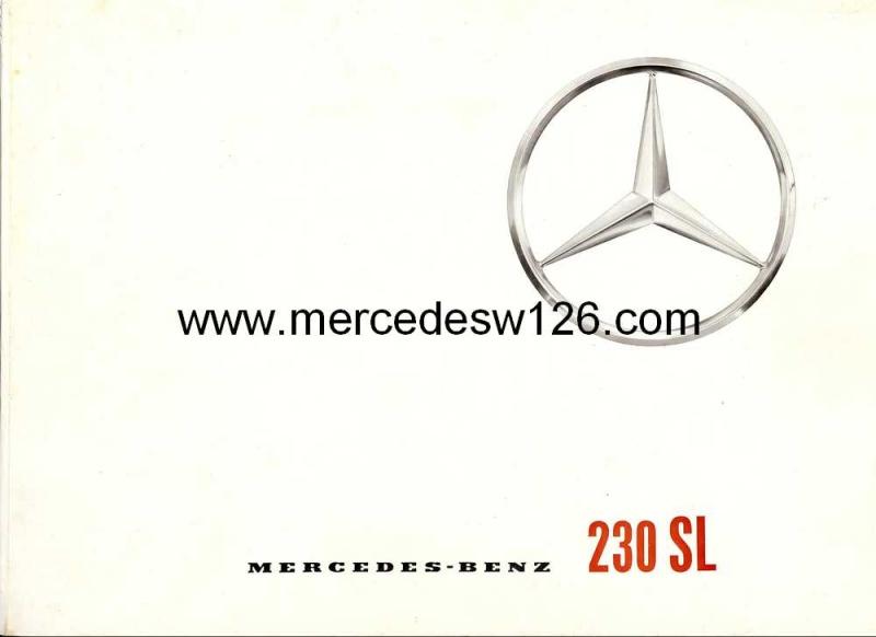 "Catalogue de 1965 sur la Mercedes W113 230 SL ""pagode"" W113_210"