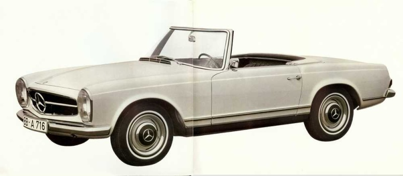 "Catalogue de 1965 sur la Mercedes W113 230 SL ""pagode"" W113_211"