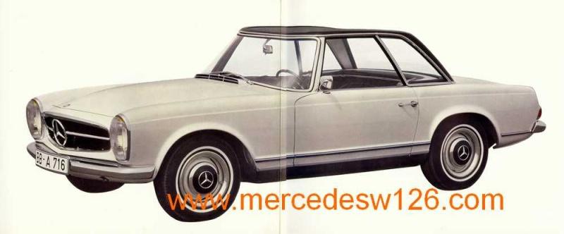 "Catalogue de 1965 sur la Mercedes W113 230 SL ""pagode"" W113_212"