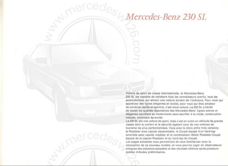 "Catalogue de 1965 sur la Mercedes W113 230 SL ""pagode"" W113_214"