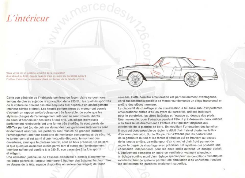 "Catalogue de 1965 sur la Mercedes W113 230 SL ""pagode"" W113_215"