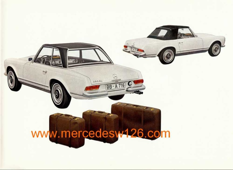 "Catalogue de 1965 sur la Mercedes W113 230 SL ""pagode"" W113_217"