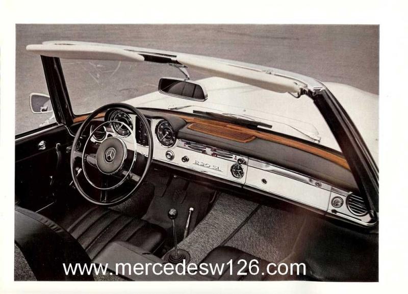 "Catalogue de 1965 sur la Mercedes W113 230 SL ""pagode"" W113_219"